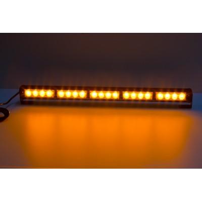 LED světelná alej, 20x LED 3W, oranžová 580mm, ECE R10 R65
