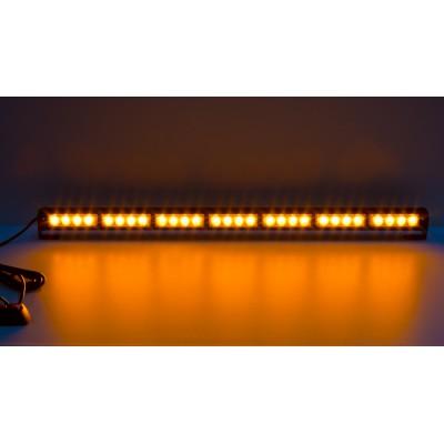 LED světelná alej, 28x LED 3W, oranžová 800mm, ECE R10 R65