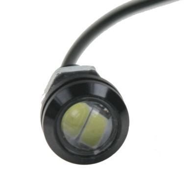 LED světlo pro denní svícení (eagle eye) 18mm, 12V, 3W, bílá