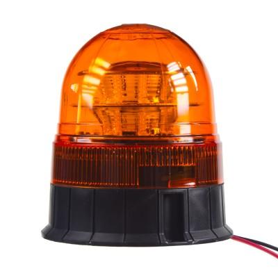 LED maják, 12-24V, 16x3W, oranžový fix, ECE R65