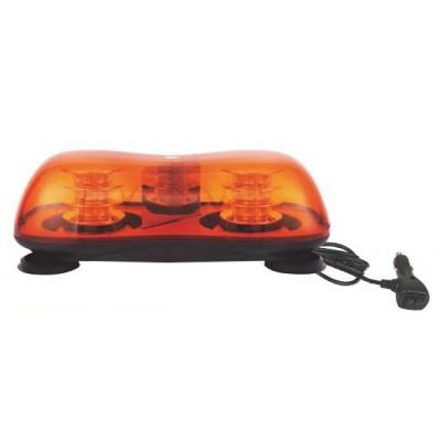 LED rampa oranžová, 36LEDx3W, fix, 12-24V, 419mm, ECE R65/R10