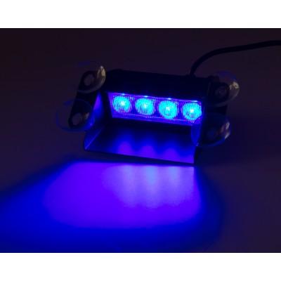 PREDATOR LED vnitřní, 4x3W, 12-24V, modrý, 146mm, CE