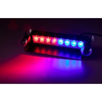 PREDATOR LED vnitřní, 8x3W, 12-24V, červeno-modrý, 240mm, CE