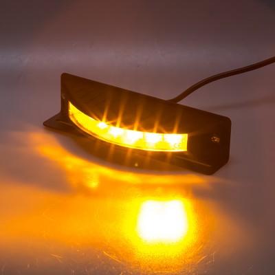 Výstražné LED světlo vnější, 12-24V, 6x3W, oranžové, ECE R65