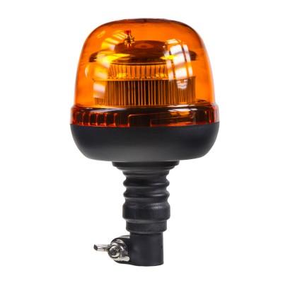 LED maják, 12-24V, 45xSMD2835 LED , oranžový, na držák, ECE R65