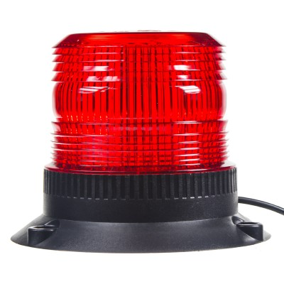 Zábleskový maják, 12-110V, červený magnet, ECE R10