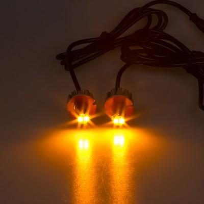 LED stroboskop oranžový 2x3W, 12-24V