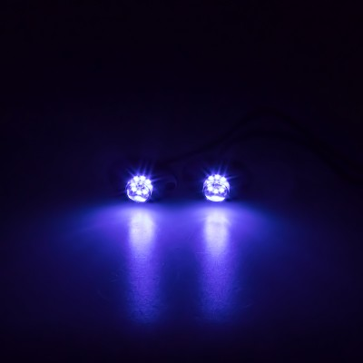 LED stroboskop modrý 8x3W, 12-24V