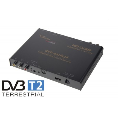 DVB-T2/HEVC/H.265 digitální tuner Asuka s USB