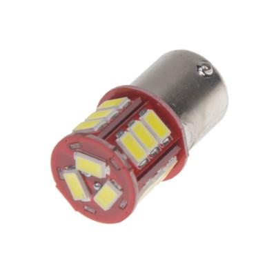 LED BA15s bílá, 12-24V, 18LED/5730SMD