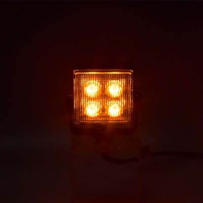 Výstražné LED světlo vnější, oranžové, 12/24V, R65