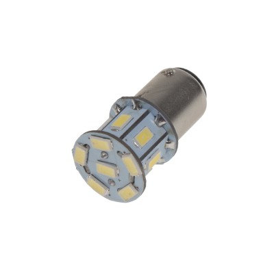 LED BA15s bílá, 12V, 13LED/5730SMD