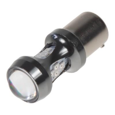 LED BAU15s oranžová, 12-24V, 16LED/3030SMD