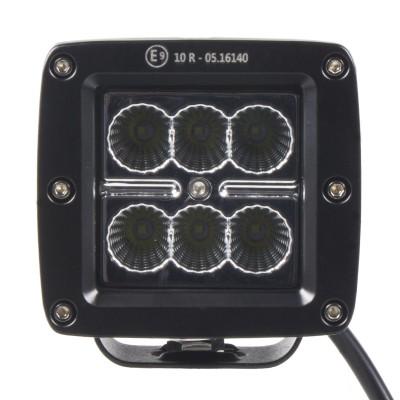 LED světlo na pracovní stroje 10-30V, 6x3W, R10