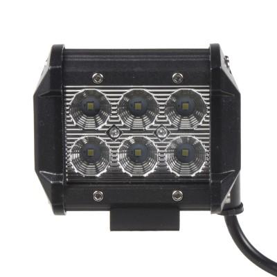 LED světlo na pracovní stroje 10-30V, 6x3W