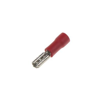 Objímka plochá 2,8 mm červená, 100 ks