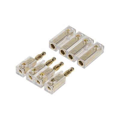 4-pólový zlacený konektor pro připojení repro na zadním platu