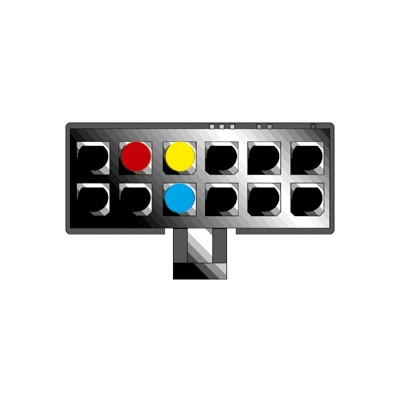 Kabel pro PIONEER 12-pin / ISO bílý