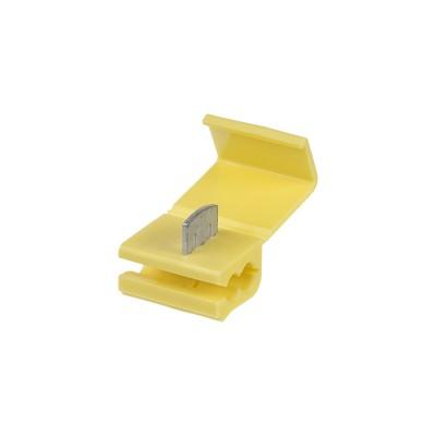 Kabelová odbočka žlutá, 50 ks