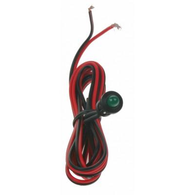 Zelená blikací kontrolní LED s objímkou a kabelem
