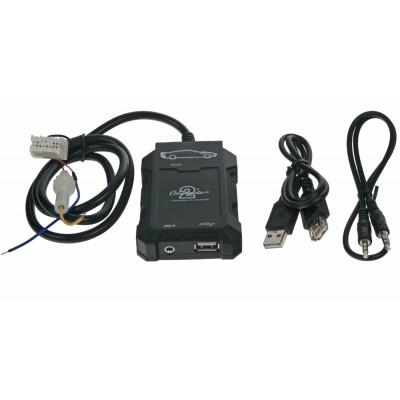 Adaptér pro ovládání USB zařízení OEM rádiem Nissan/AUX vstup