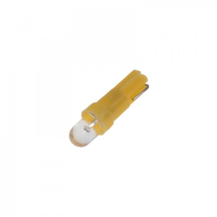 LED žárovka 12V s paticí T5 žlutá, 1LED
