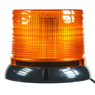 LED maják, 12-24V, oranžový magnet, homologace