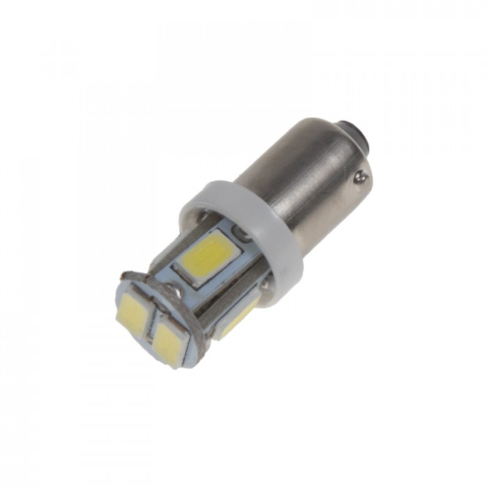 LED žárovka 12V s paticí BA 9s bílá, 5LED/3SMD