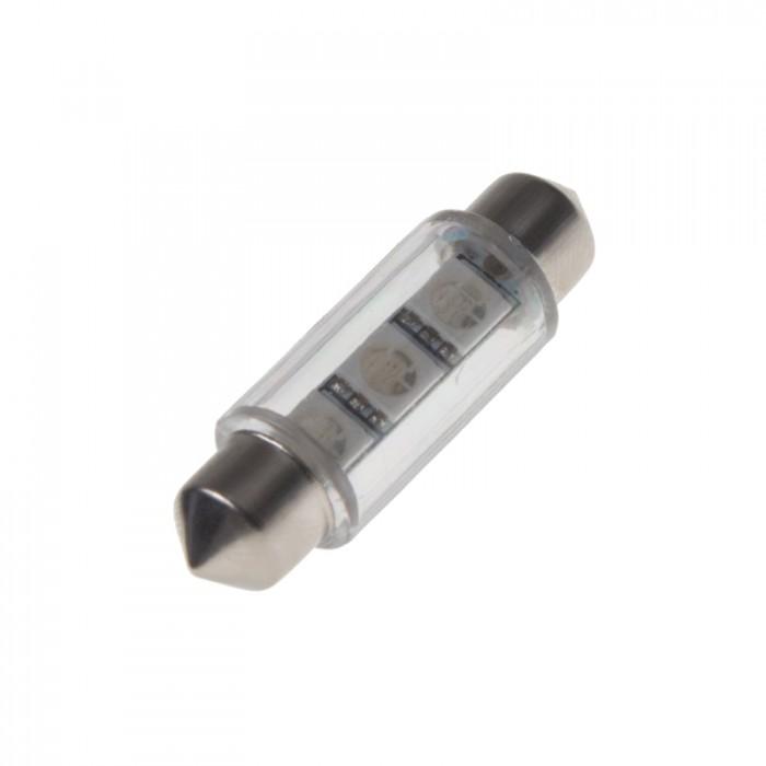 LED žárovka 12V s paticí sufit(39mm) modrá, 3LED/3SMD