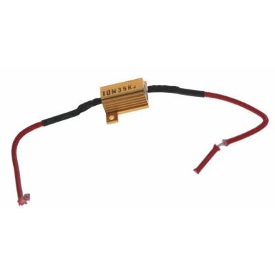 Rezistor pro žárovku 12V/5W, 40 ohm, hliníkové pouzdro