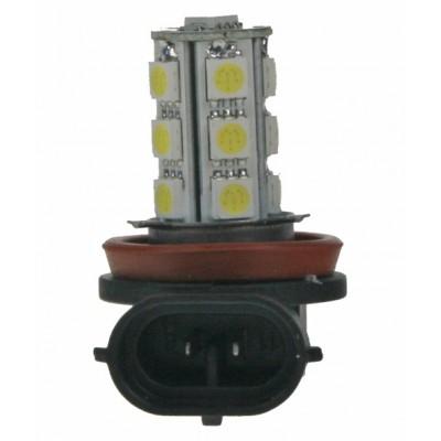 LED H11 bílá, 12V, 18LED/3SMD
