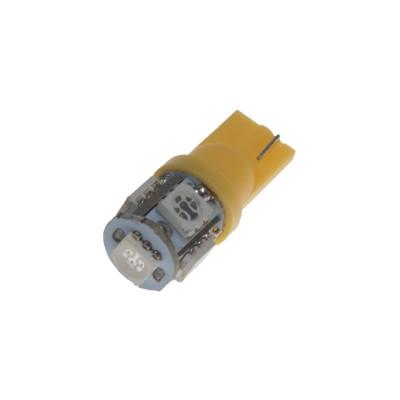 LED žárovka 12V s paticí T10 oranžová, 5LED/3SMD