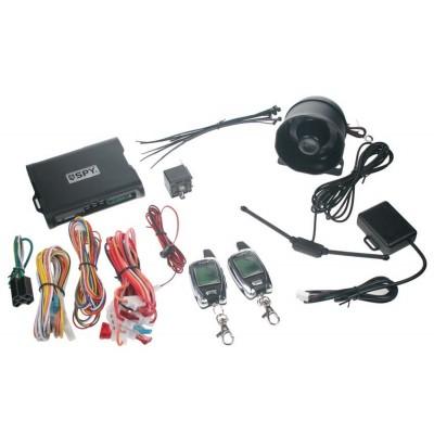 SPY 2-WAY CAR autoalarm, 2 x LCD ovladač
