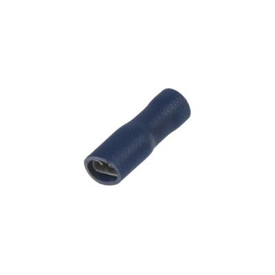 Objímka plochá izolovaná 4,8 mm modrá, 100 ks