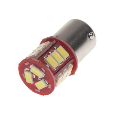 LED žárovka 24V s paticí BAU15S bílá, 16LED/3SMD