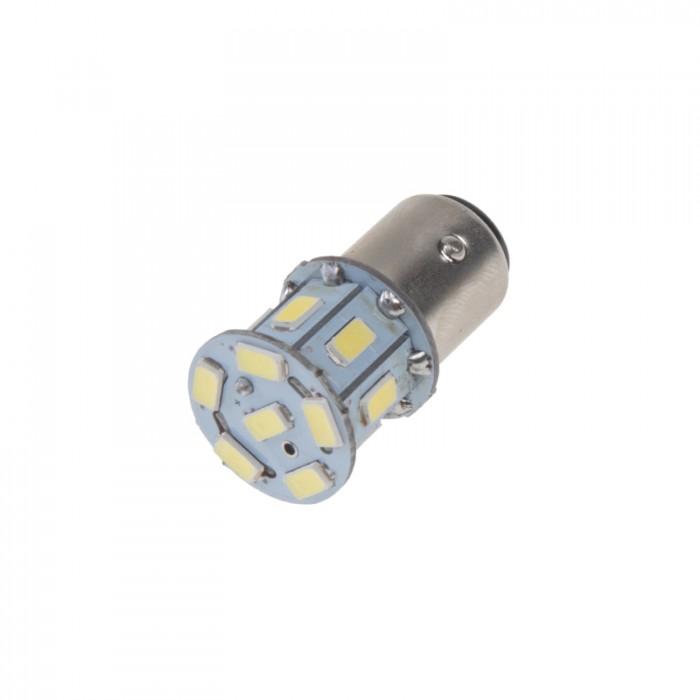 LED žárovka 24V s paticí BAY15d bílá, 16LED/3SMD