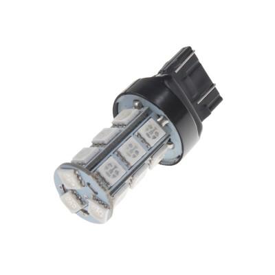 LED žárovka 12V s paticí T20 (7443) červená, 18LED/3SMD