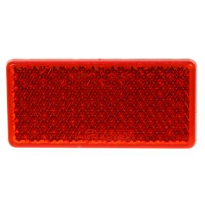 Zadní (červený) odrazový element - obdélník 95 x 38mm nalepovací