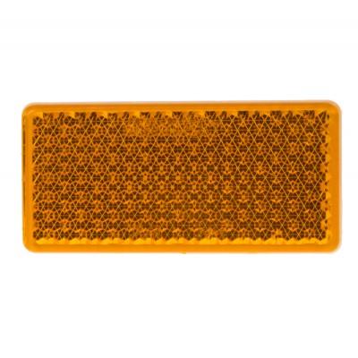 Boční (oranžový) odrazový element - obdélník 95 x 38mm nalepovací