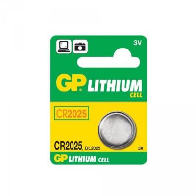 Baterie CR2025 3 V/150 mAh, průměr 20 x 2,5 mm