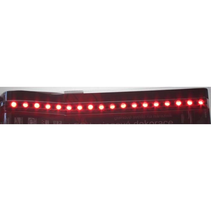 LED pásek vodotěsný s 18 LED červený 12V, 36cm