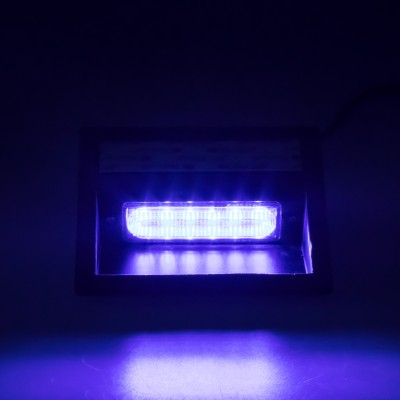 PREDATOR LED vnitřní, 6x LED 5W, 12/24V, modrý, ECE R10/R65