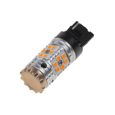 LED T20 (7440) oranžová, CAN-BUS, 12-24V, 24LED/3030SMD