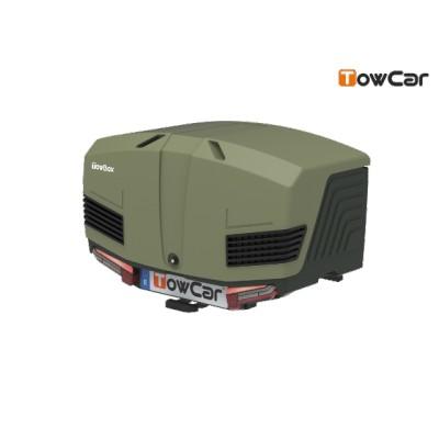 TowCar TowBox V3 zelený, uzavřený, na tažné zařízení TV3XVV0