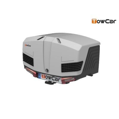 TowCar TowBox V3 šedý, uzavřený, na tažné zařízení TV3XGG0