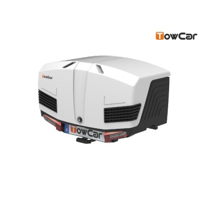 TowCar TowBox V3 bílý, uzavřený, na tažné zařízení TV3XGB0