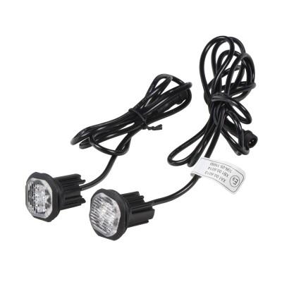 2x PROFI výstražné LED světlo vnější oranžové, 12-24V, ECE R65
