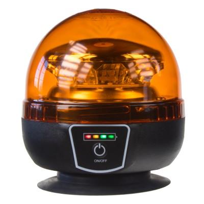 AKU LED maják, 12x1W oranžový, magnet