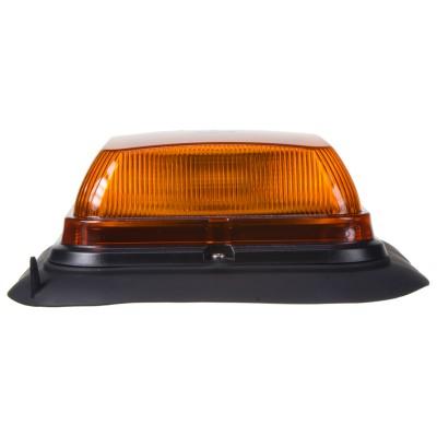 LED maják, 12-24V, 164 x 164mm, 64LED oranžový magnet, ECE R10 R65