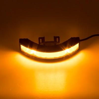Výstražné LED světlo vnější, 12-24V, 12x3W, oranžové, ECE R65